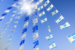 Israel flags Stock Photography
