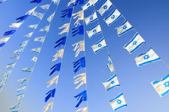 Israel flags Stock Photo