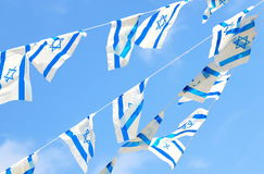 Israel Flags on Independence Day Stock Photography