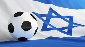 Israel football. Soccer ball on the flag of Israel Royalty Free Stock Photography
