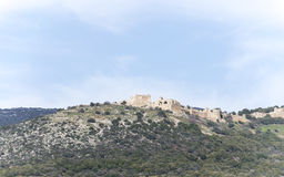 israel galiläa Nimrod Fortress Lizenzfreies Stockfoto