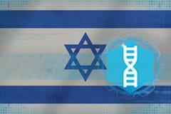 Israel genteknik kodbegreppsdna passade ett styckställehöger sida skallr Arkivbilder