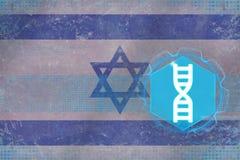 Israel genteknik kodbegreppsdna passade ett styckställehöger sida skallr Royaltyfria Bilder