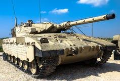 Israel gjorde behållaren för den huvudsakliga striden Merkava Mk II Latrun Israel Fotografering för Bildbyråer