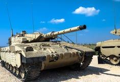 Israel gjorde behållaren för den huvudsakliga striden Merkava Mk II Latrun Israel Royaltyfria Foton