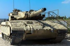 Israel gjorde behållaren för den huvudsakliga striden Merkava Mk III Latrun Israel Arkivbild