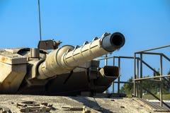 Israel gjorde behållaren för den huvudsakliga striden Merkava Mk III Latrun Israel Royaltyfri Bild