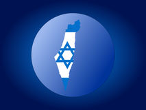Israel globe. Map and flag of Israel globe illustration Stock Photo