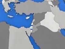 Israel on globe Royalty Free Stock Photo