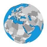 Israel on globe Stock Photography