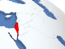 Israel on globe Royalty Free Stock Photos