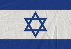 Israel grunge flag. Patriotic background. National flag of Israel royalty free stock photo