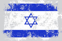 Israel grunge, old, scratched style flag Stock Photos