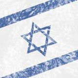Israel Grunge Shows Waving Flag e paese Fotografia Stock Libera da Diritti
