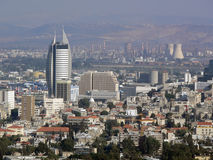 Israel, Haifa. Lower town and industrial area. Stock Image