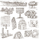 Israel - An hand drawn collection. Full sized freehands. Royalty Free Stock Photography