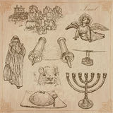 Israel - An hand drawn collection. Vector pack. Royalty Free Stock Image