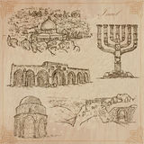 Israel - An hand drawn collection. Vector pack. Stock Photography