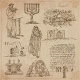 Israel - An hand drawn collection. Vector pack. Stock Image