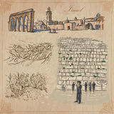 Israel - An hand drawn collection. Vector pack. Royalty Free Stock Images