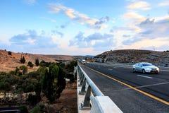 Israel Highway 6, una strada a pedaggio fotografia stock