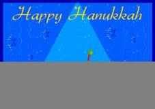 Israel Holiday for Festival of Light Happy Hanukkah celebration background Royalty Free Stock Photo