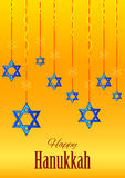 Israel Holiday for Festival of Light Happy Hanukkah celebration background Stock Photography