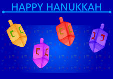 Israel Holiday for Festival of Light Happy Hanukkah celebration background Royalty Free Stock Photos