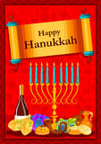 Israel Holiday for Festival of Light Happy Hanukkah celebration background Royalty Free Stock Photo