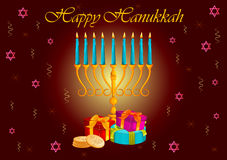 Israel Holiday for Festival of Light Happy Hanukkah celebration background Royalty Free Stock Photography