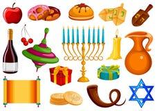 Israel Holiday pour le festival du fond heureux de célébration de Hanoucca de lumière illustration libre de droits
