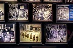 Israel, holocausto de Yad-Vassim, vista 14-08-2017 de las fotos desde la 2da guerra mundial y persecución de los judíos, como Imagen de archivo