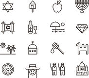 Israel icons Stock Photo