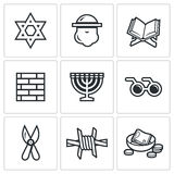 Israel icons set. Vector Illustration. Royalty Free Stock Photo