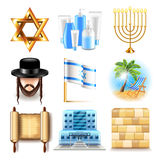 Israel icons vector set Stock Photography