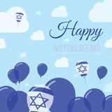 Israel Independence Day Flat Patriotic-Ontwerp royalty-vrije illustratie