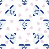 Israel Independence Day Seamless Pattern Fotografia Stock Libera da Diritti