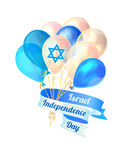 Israel independence day. Vector card Stock Photography