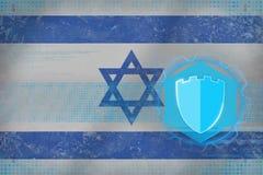 Israel internetskydd kodad viruset för säkerhet för datorbegreppsprogramet Royaltyfria Foton
