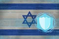Israel internetskydd Rengöringsduksäkerhetsbegrepp Arkivbilder