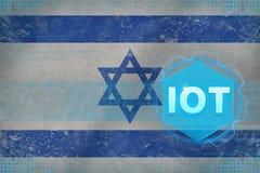 Israel IOT internet av saker Internet av det moderna begreppet för saker Royaltyfri Fotografi