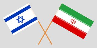 Israel and Iran. The Israeli and Iranian flags. Official colors. Correct proportion. Vector. Illustration stock illustration
