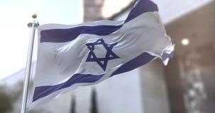 Israel or Israeli flagstaff Slow motion seamless loop