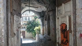 Israel, Jerusalén, calles de piedra en un día claro fotos de archivo libres de regalías
