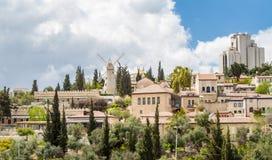 Israel, Jerusalén Montefiore molino de viento 4 de abril de 2015 Foto de archivo libre de regalías