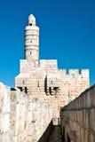 Israel, Jerusalén, torre de David en la ciudad vieja foto de archivo