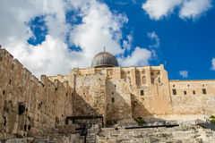 Israel, Jerusalem Al-Aqsa Mosque April 4, 2015 Royalty Free Stock Photos