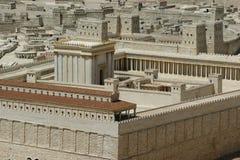 israel jerusalem andra tempel Arkivfoton