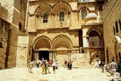israel jerusalem 20 Augusti 2014: Helgedomen begraver i Jerusalem Arkivbilder
