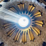Israel / Jerusalem - 03.23.2016: The ceiling over the grave of Christ in the holy church in Jerusalem royalty free stock photo